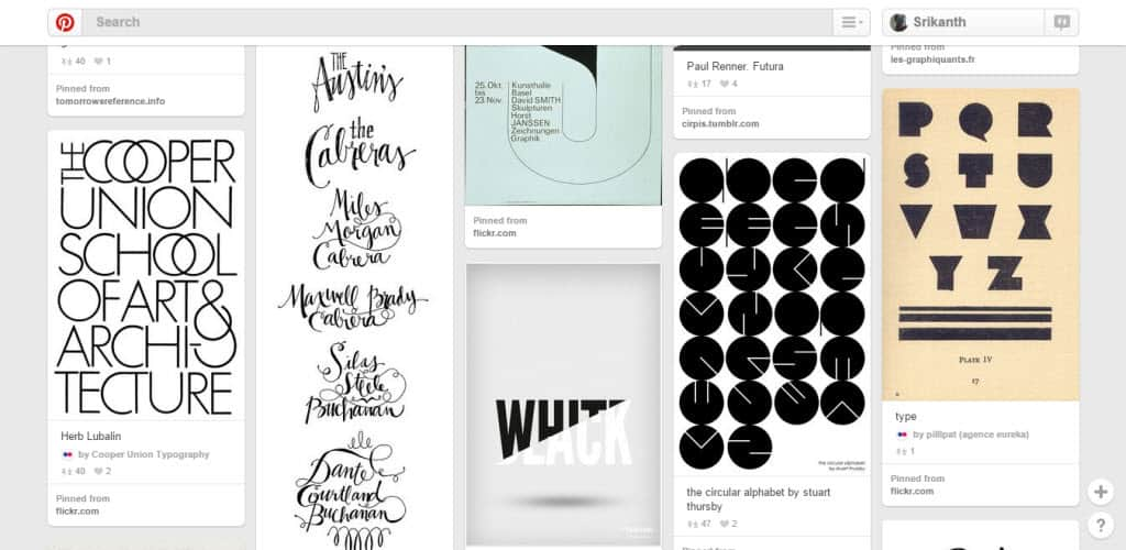 David Hellmann Typography Pinterest Board