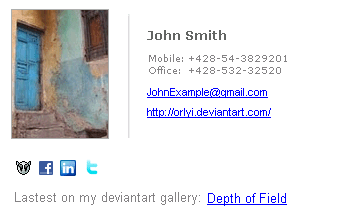 DeviantART Selling Prints Email Signature