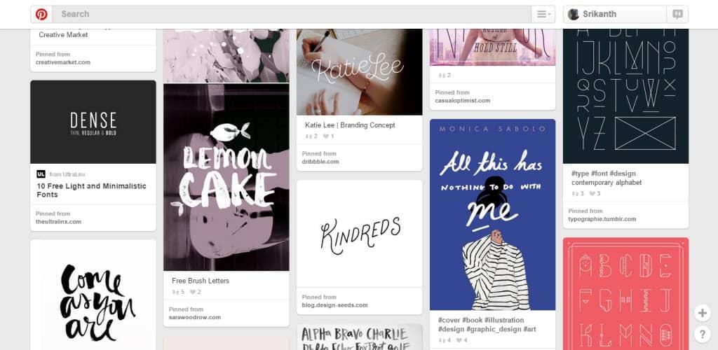 Elisha Schnell Typography Pinterest Board