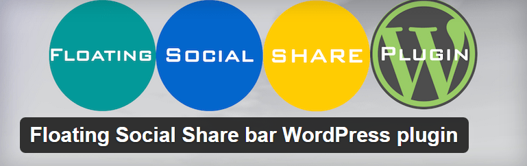 Floating Social Share bar WordPress plugin