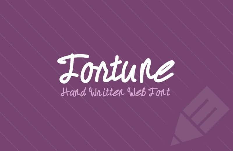 Fortune Hand Written Web Font