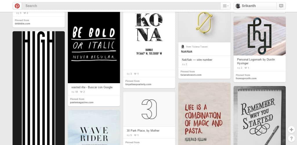 Itziar San Vicente Typography Pinterest Board