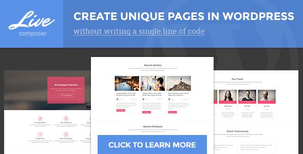 Live Composer Front-End WordPress Page Builder