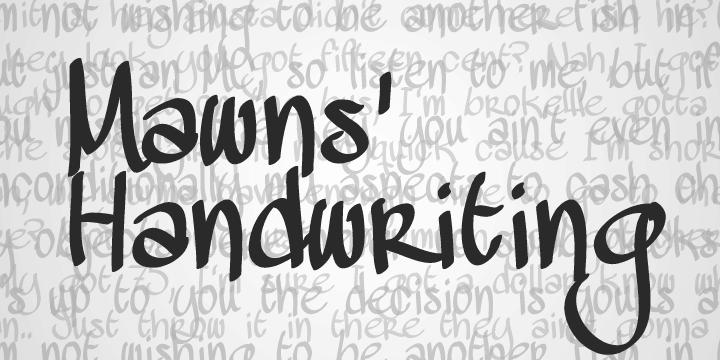 Mawns Handwriting fonts