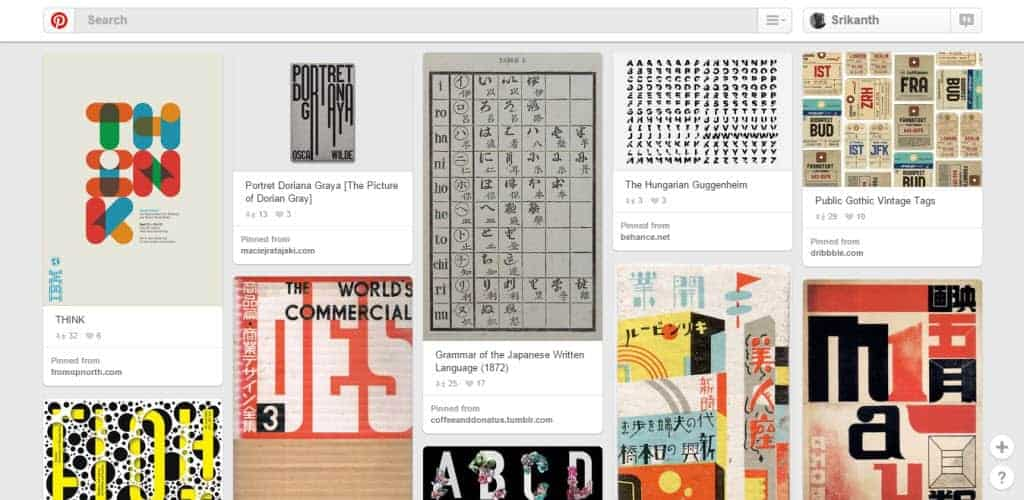 Mike D Typography Pinterest Board