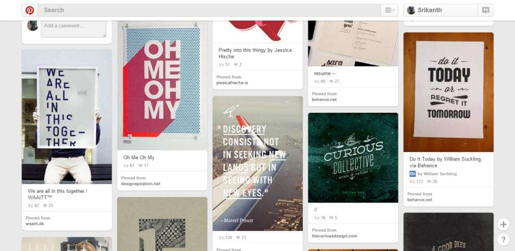 Nathan Strange Typography Pinterest Board