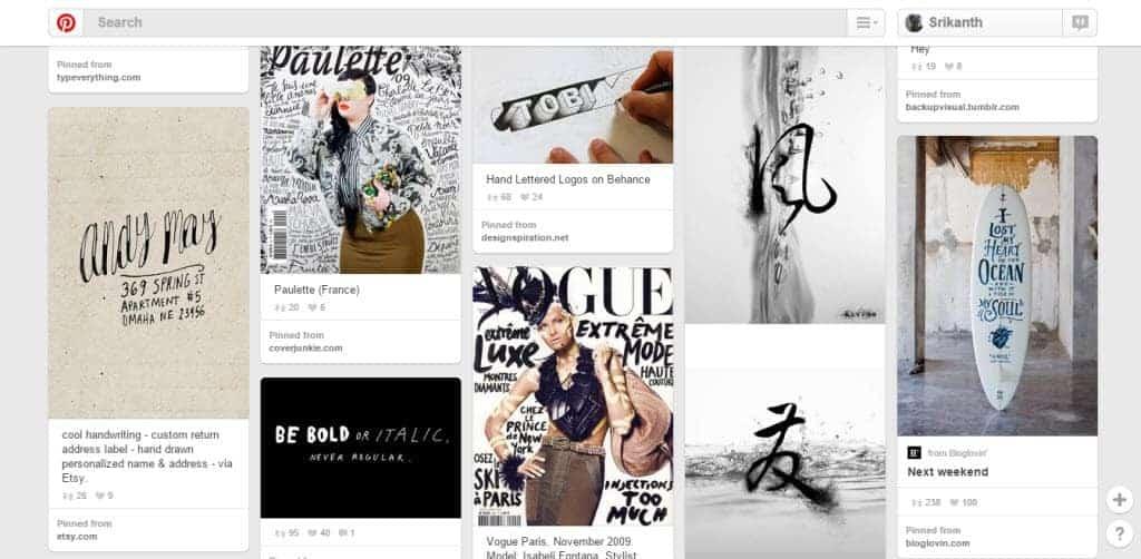Ruslan Maszkow Typography Pinterest Board