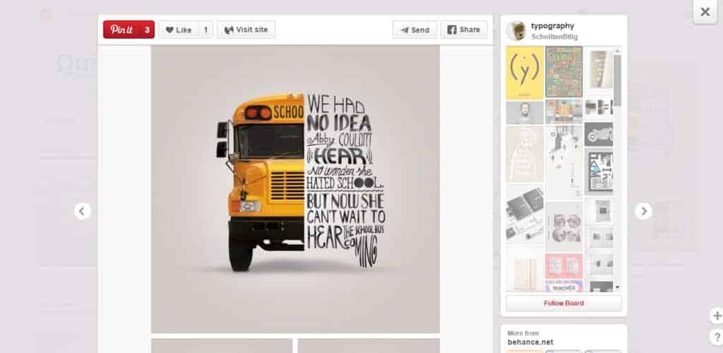Schnittenfittig Typography Pinterest Board