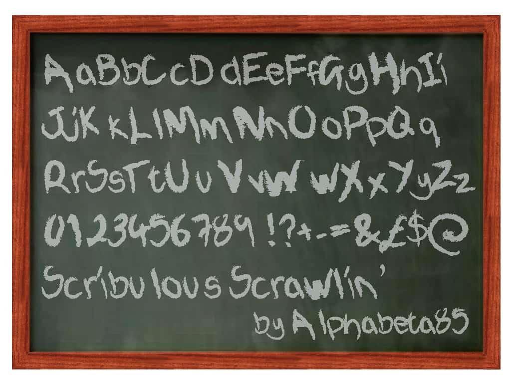 Scribulous Scrawlin font