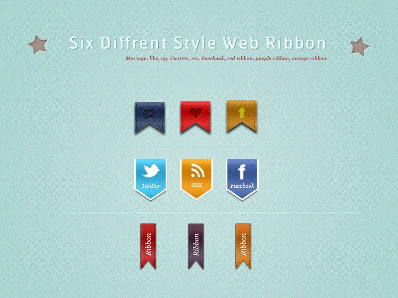 Stylish Web Ribbon