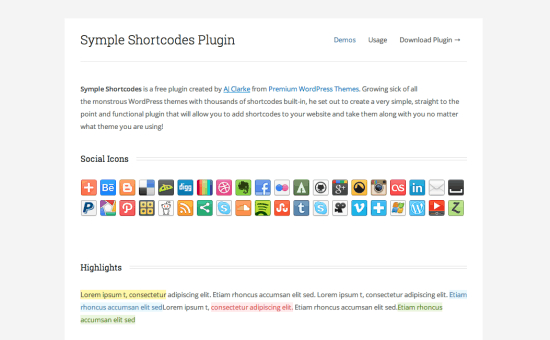 Symple Shortcodes Plugin