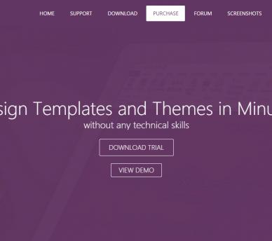 Template generator templateToaster