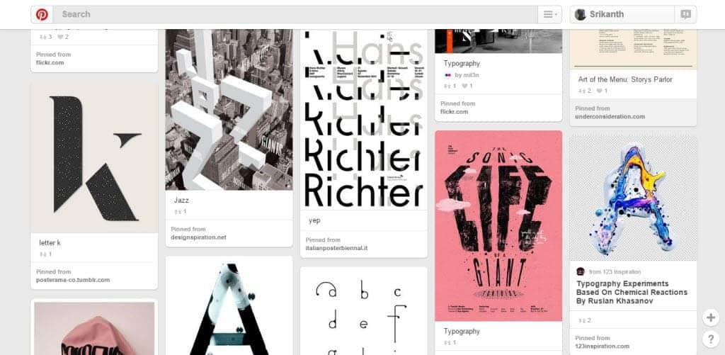 Victor Kowalski Typography Pinterest Board
