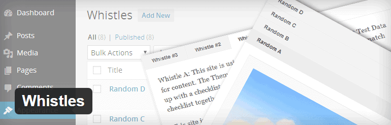 Whistles WordPress Plugin