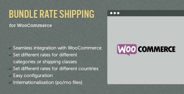 WooCommerce E-Commerce Bundle Rate Shipping