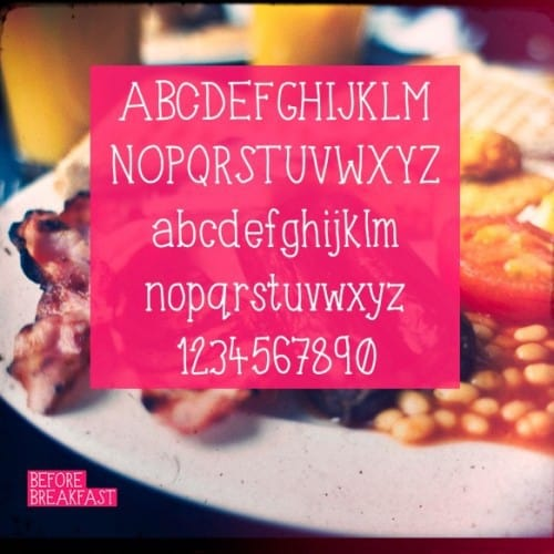 before-breakfast font