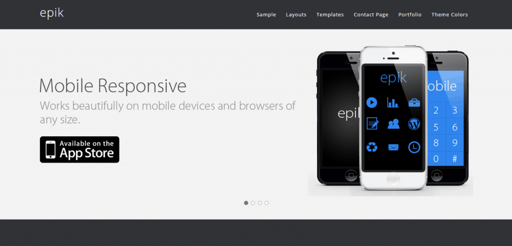 epik WordPress theme