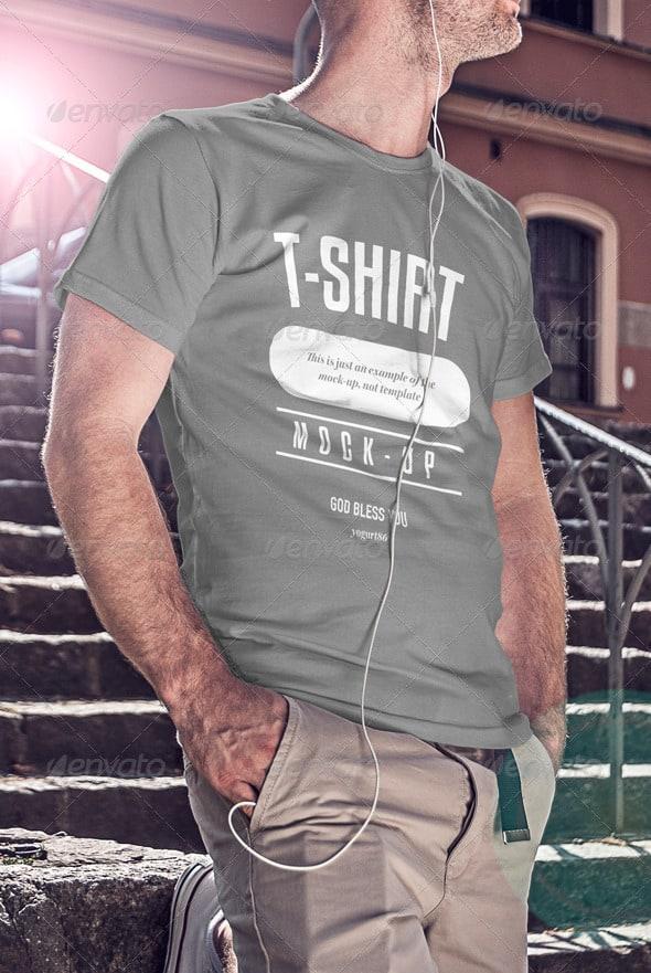 1 T shirt mockup design