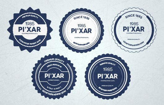 28 flat free psd badges grouped