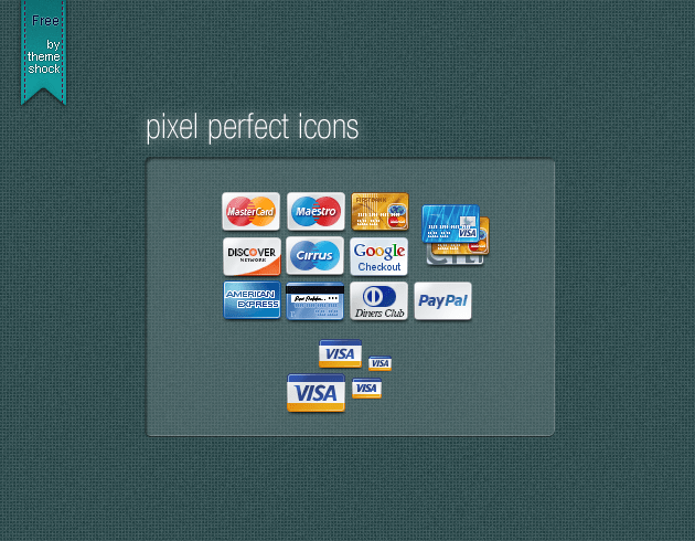 48 Pixel perfect credit card icons