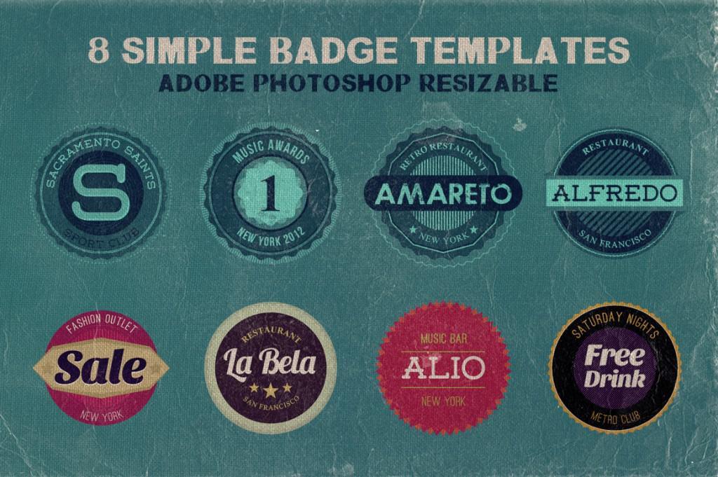 8 Simple Badge Templates
