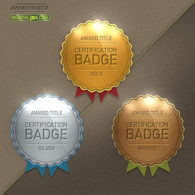 Award Badge PSD