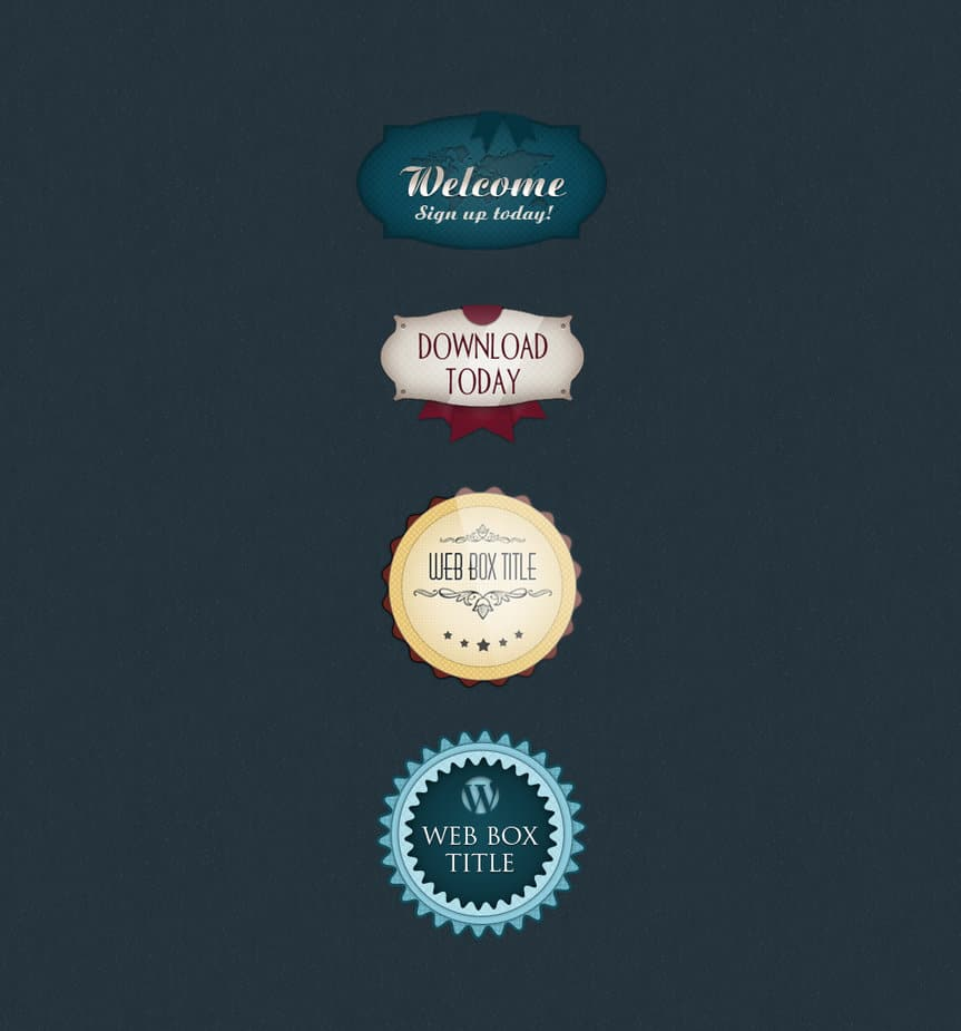 Badges psd free private or commercial