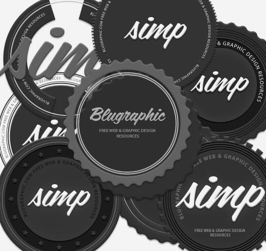 Circle Vintage Psd Badges
