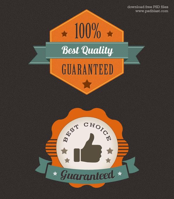 Colorful Premium Quality Web Badge