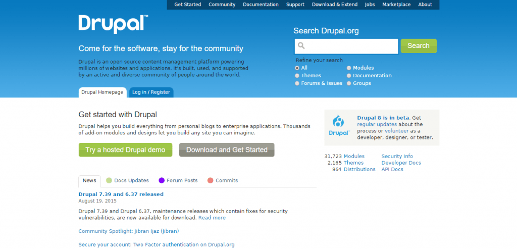 Drupal Open Source CMS