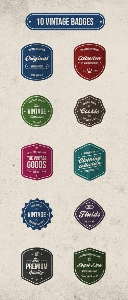 Free Vintage Retro Badges
