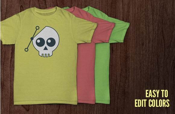 Free skull T Shirt Mockup PSD Files