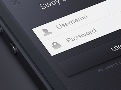 Mobile Login Form