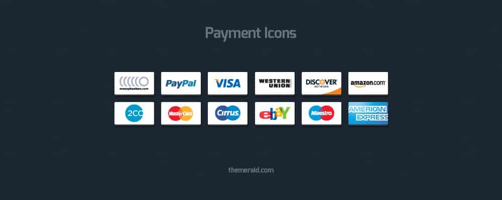 Online Payment Icons Vector Psd