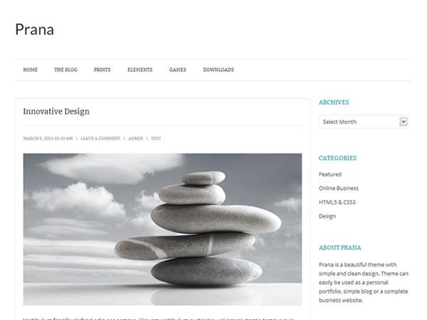 Prana WordPress Theme