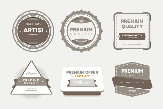 Free Vector PSD Badges