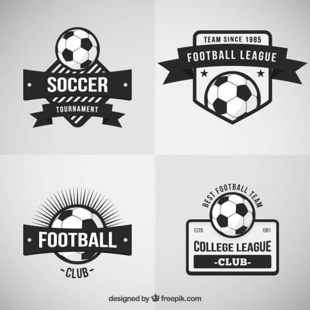 Retro football badges