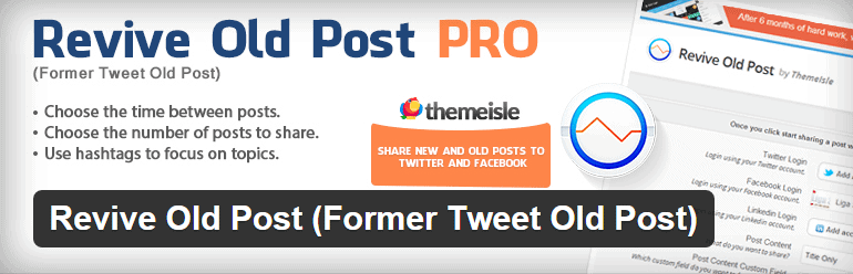 Revive Old Post Former Tweet Old Post Plugin