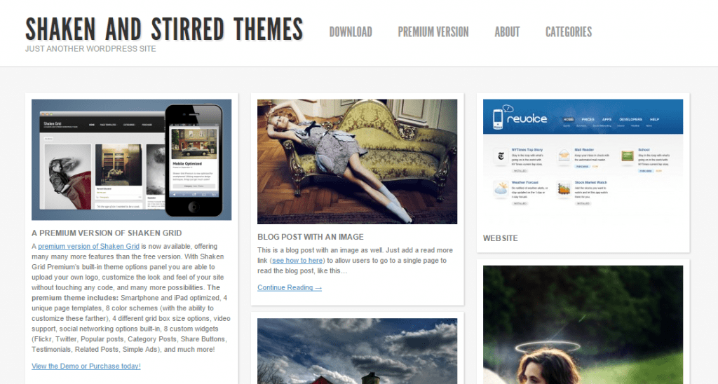 Shaken and Stirred wp Theme