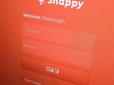 Snappy Login form