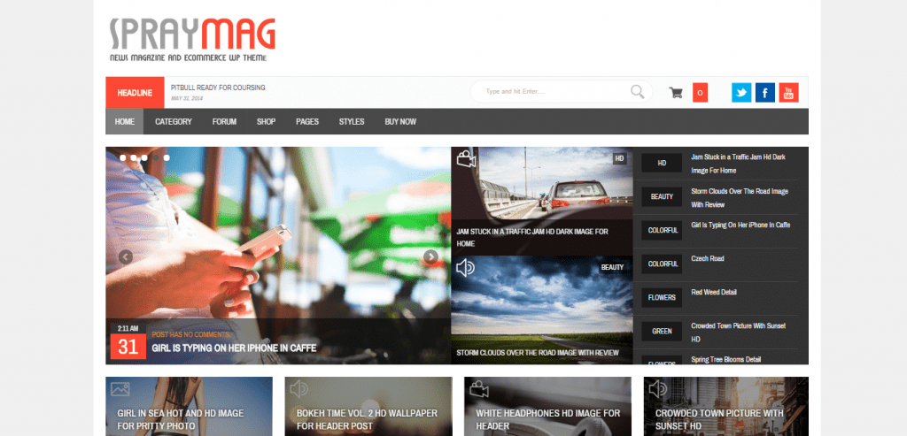 SprayMag WordPress News Theme