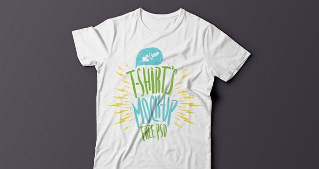 Summer Tshirt Mockup Template Psd