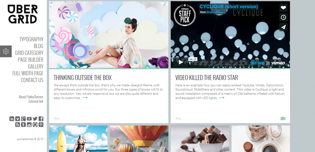 UberGrid WordPress Theme