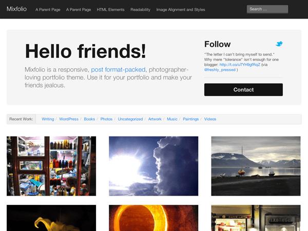 mixfolio free portfolio theme