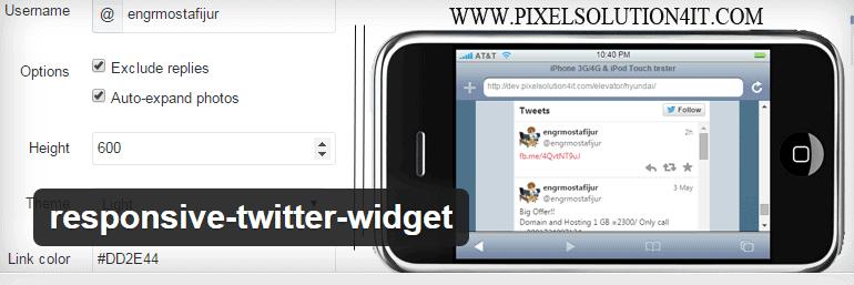 responsive twitter widget