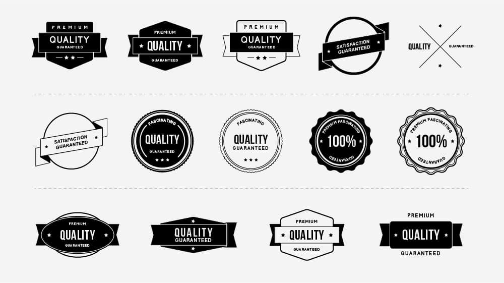 vector quality badges
