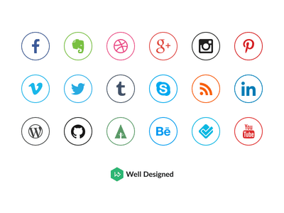 20 Social Media Icons Freebie