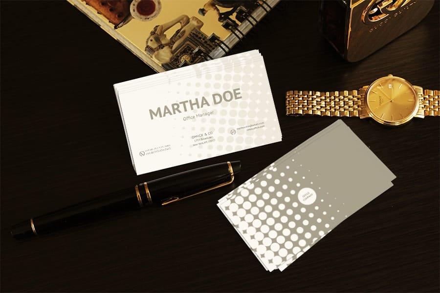 Business card mockup v1