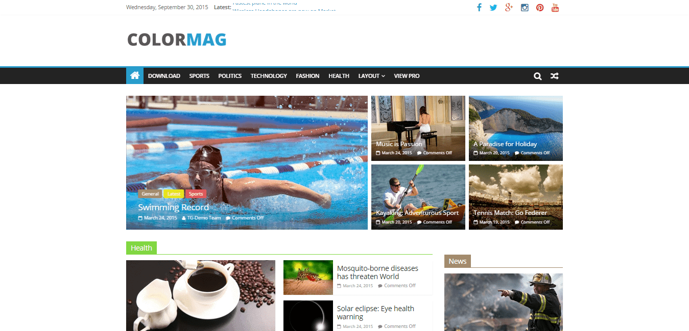 COLORMAG Magazine WordPress theme