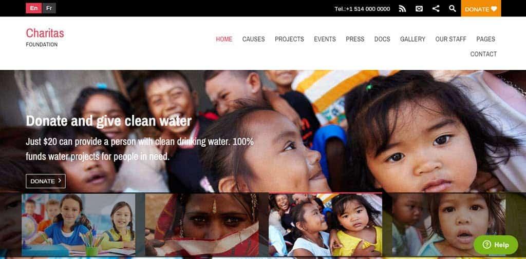 Charitas Lite free theme